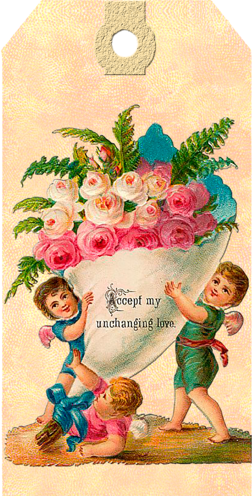 Wings of Whimsy: Victorian Easter Cherub Tag 4 #vintage #ephemera #freebie #printable #easter #tags