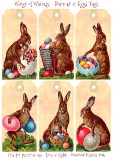 Wings of Whimsy: Victorian Easter Bunnies & Eggs Tags #vintage #ephemera #freebie #printable #easter #tags
