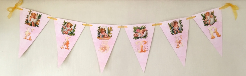 Wings of Whimsy: Easter Egg Baby Bunting  #vintage #ephemera #freebie #printable #easter #egg #baby #bunting