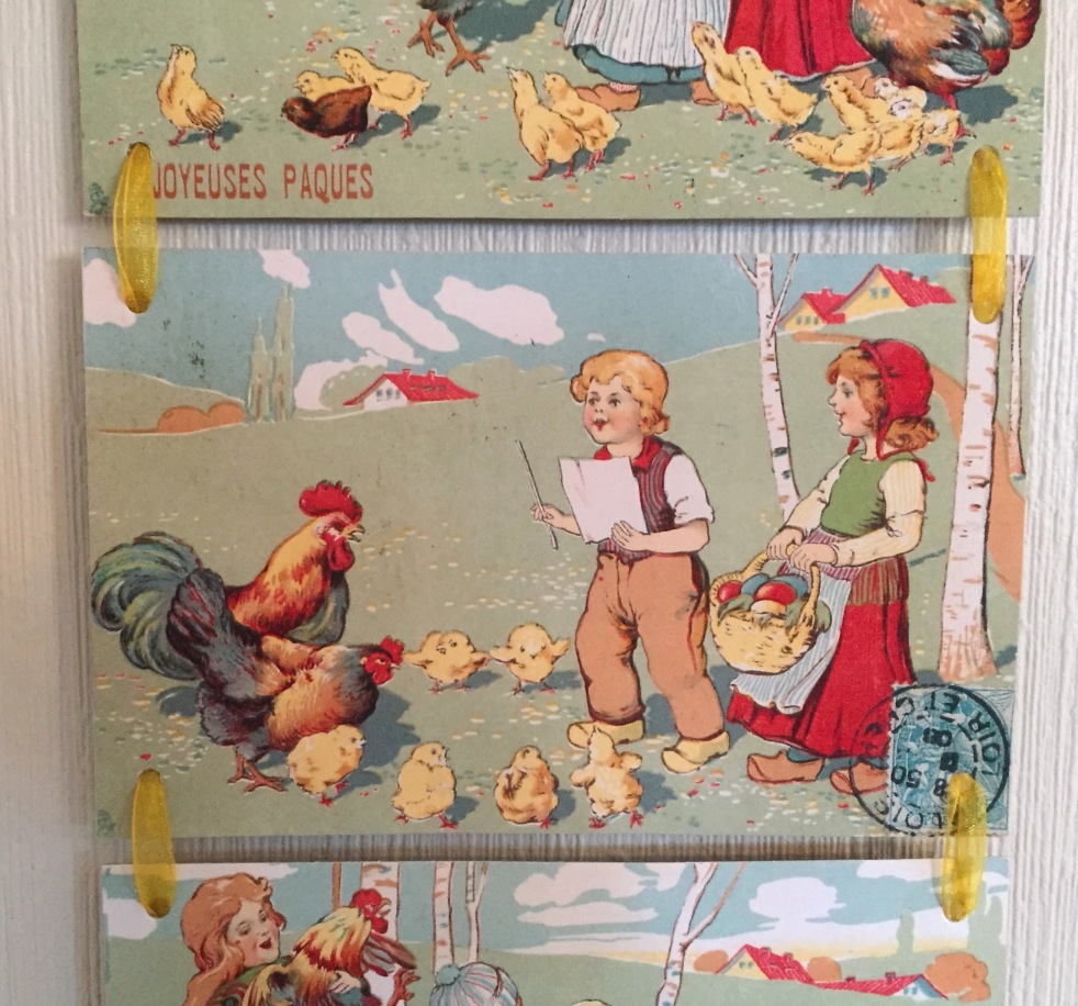 Wings of Whimsy: 1907 Joyeuses Paques - DIY Easter Bell Pull #vintage #ephemera #freebie #printable #postcard #easter #french #children