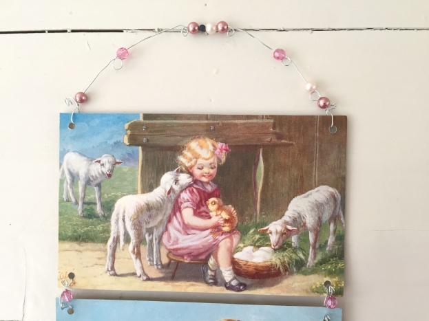 Wings of Whimsy: Children & Lambs 1916 - DIY Easter Bell Pull #vintage #ephemera #freebie #printable #postcard #easter #children #lambs