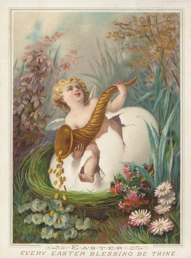 Wings of Whimsy: Nested Easter Baby 3 #vintage #ephemere #freebie #printable #easter #nest #baby #cherub