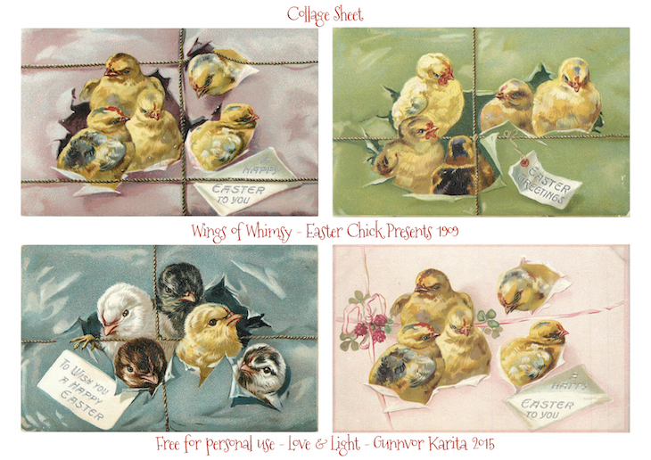 Wings of Whimsy: Easter Chicks Presents #vintage #ephemera #freebie #printable #easter #chicks #eggs