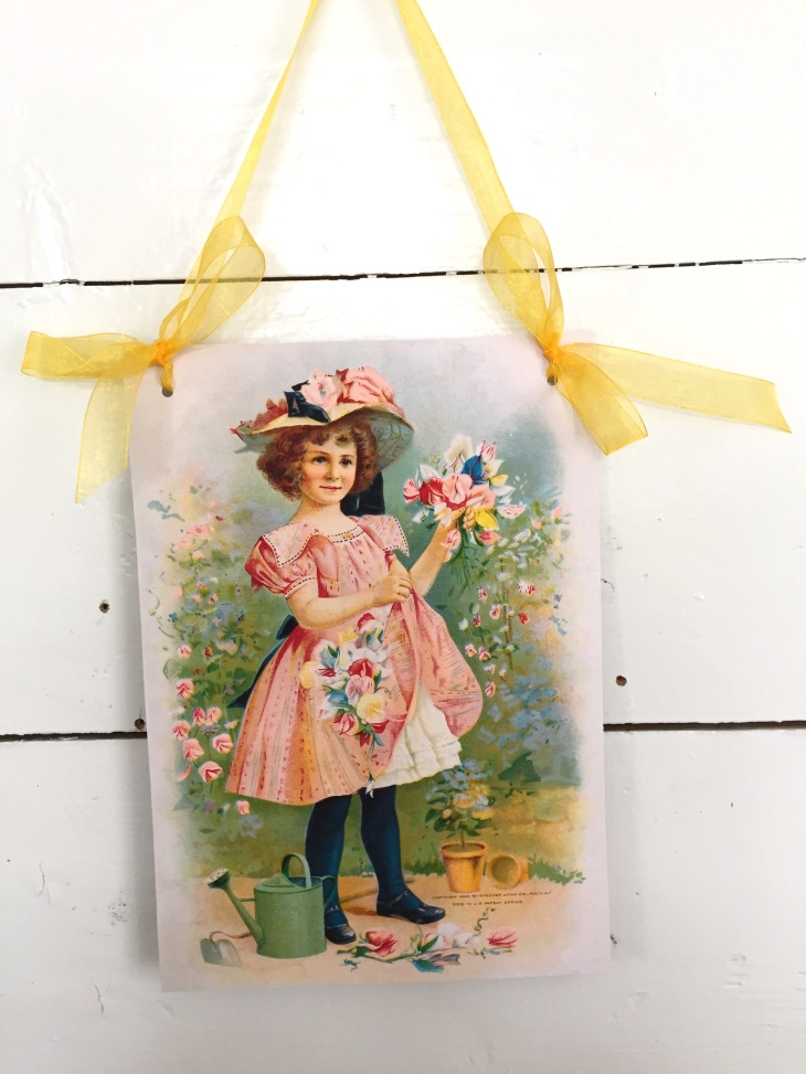 Wings of Whimsy: Sweet Pea Garden Girl - DIY Wall Hanger