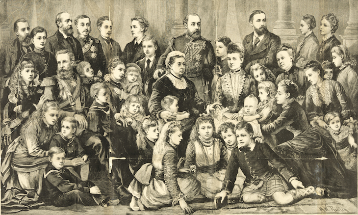 Wings of Whimsy: Queen Victoria with family 1877, newspaper supplement