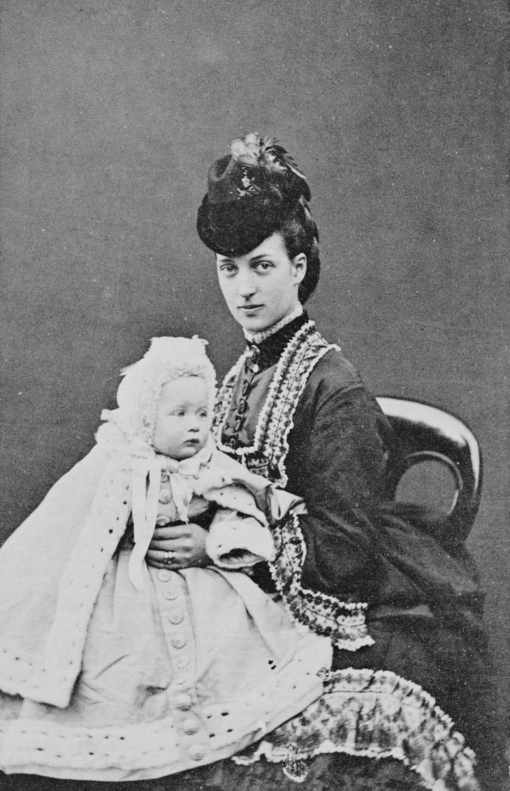 Wings of Whimsy: Alexandra, Princess of Wales, with Princess Maud, 1870