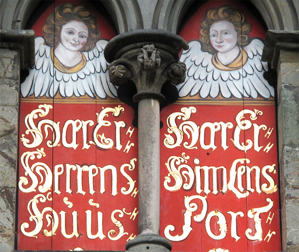 Wings of Whimsy: Cherubs  at Nidaros Cathedral