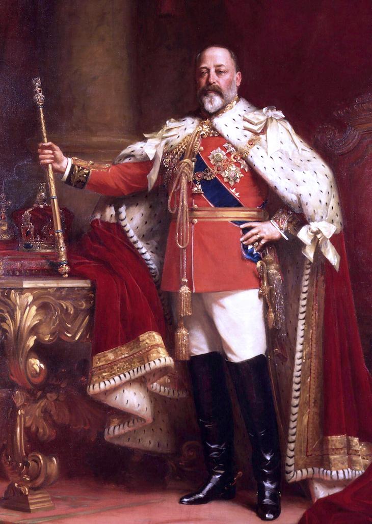 Wings of Whimsy: 1901 Coronation Portrait of King Edward VII by Luke Fildes #vintage #ephemera #pretty #data #edwardian #freebie #printable #king
