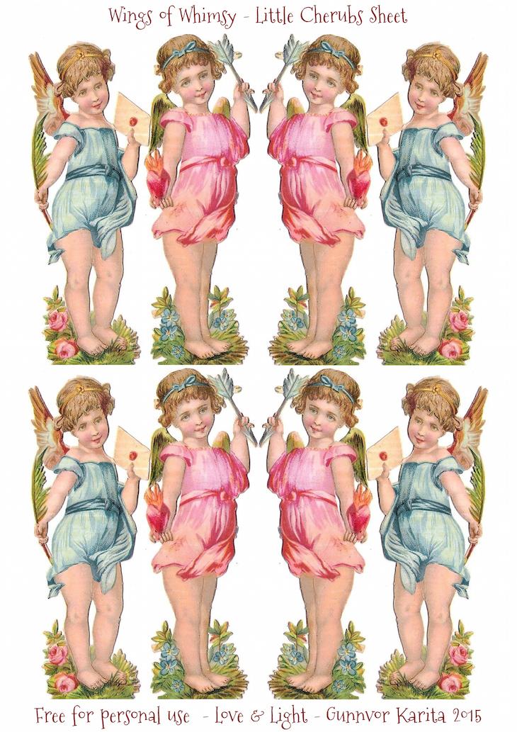 Wings of Whimsy: Little Cherubs Sheet #vintage #ephemera #printable #freebie #scrap #cherub #collage #sheet