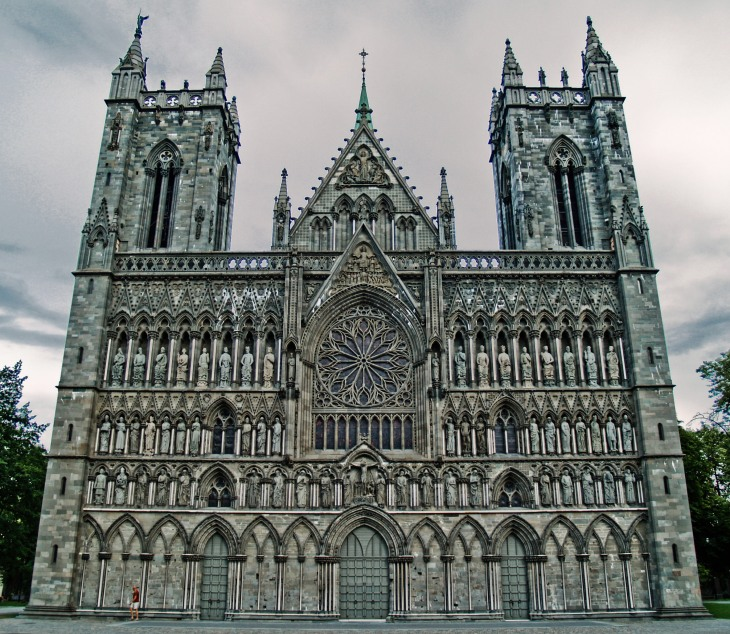 The West Fasade of the Nidaros Cathedral