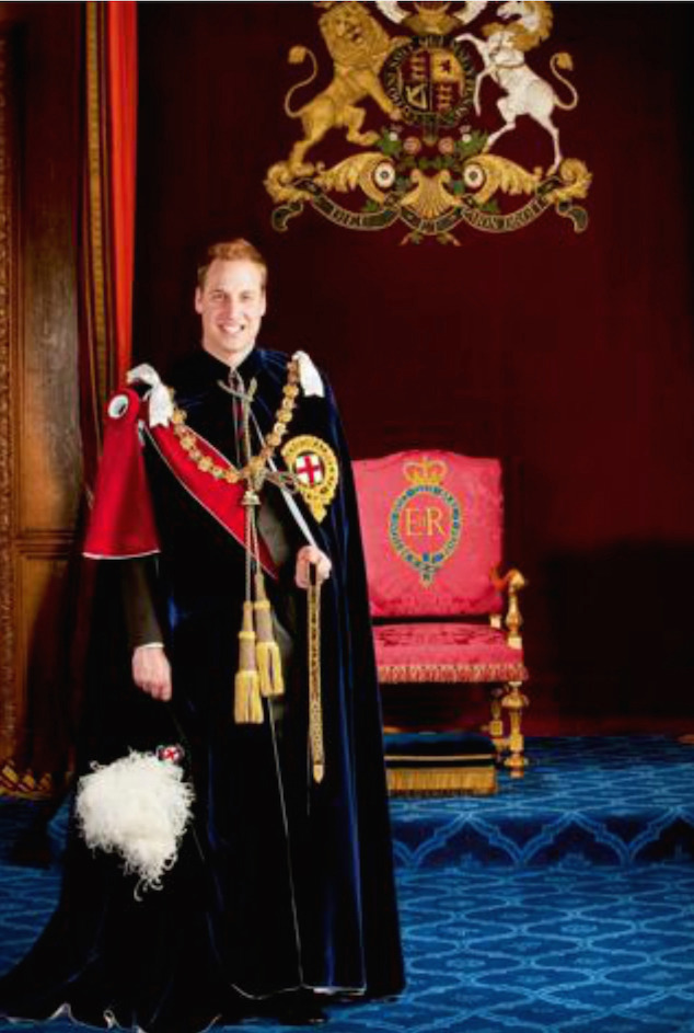 Wings of Whimsy: Portrait of Prince William in his Order of the Garter habit and insignia  #pretty #data #prince #royal