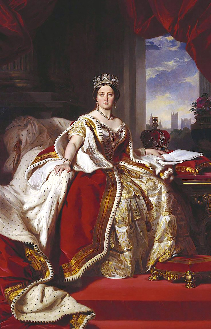 Wings of Whimsy: 1859 Portrait of Queen Victoria by Franz Xaver Winterhalter #vintage #ephemera #pretty #data #victorian #freebie #printable