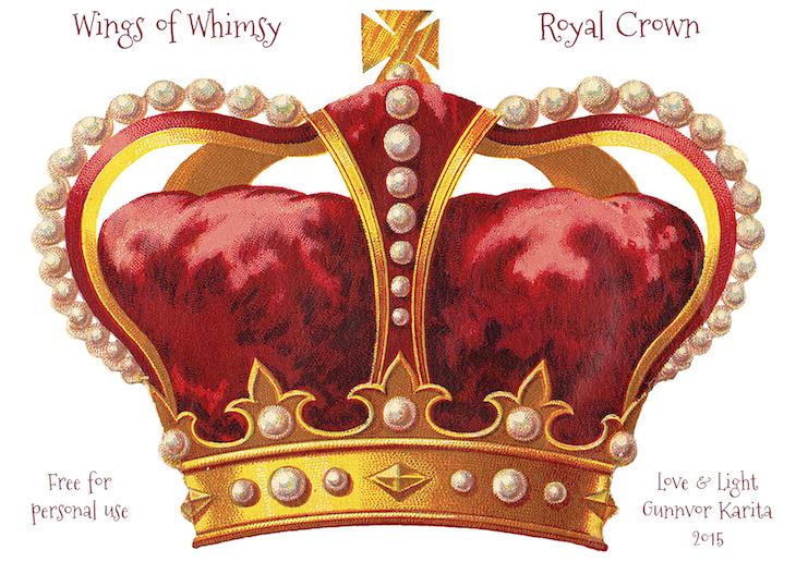 Crown vintage ephemera printable freebie royal crown tradecard