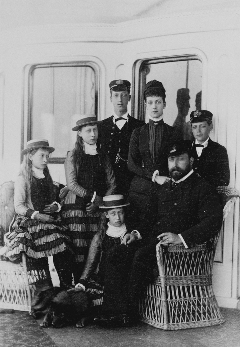 The Prince and Princess of Wales with their children, 1880