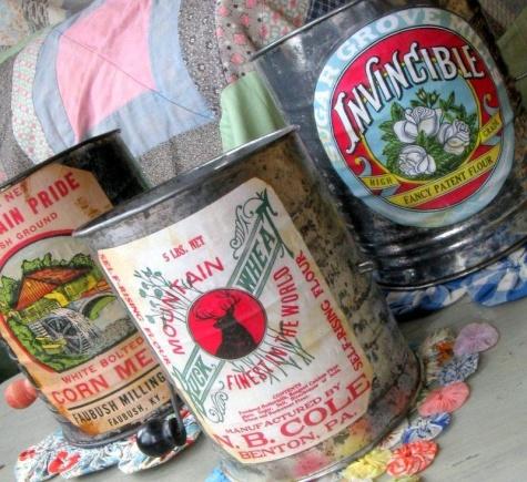 Mitzi Curi on Wordlabel: Vintage Flour Labels