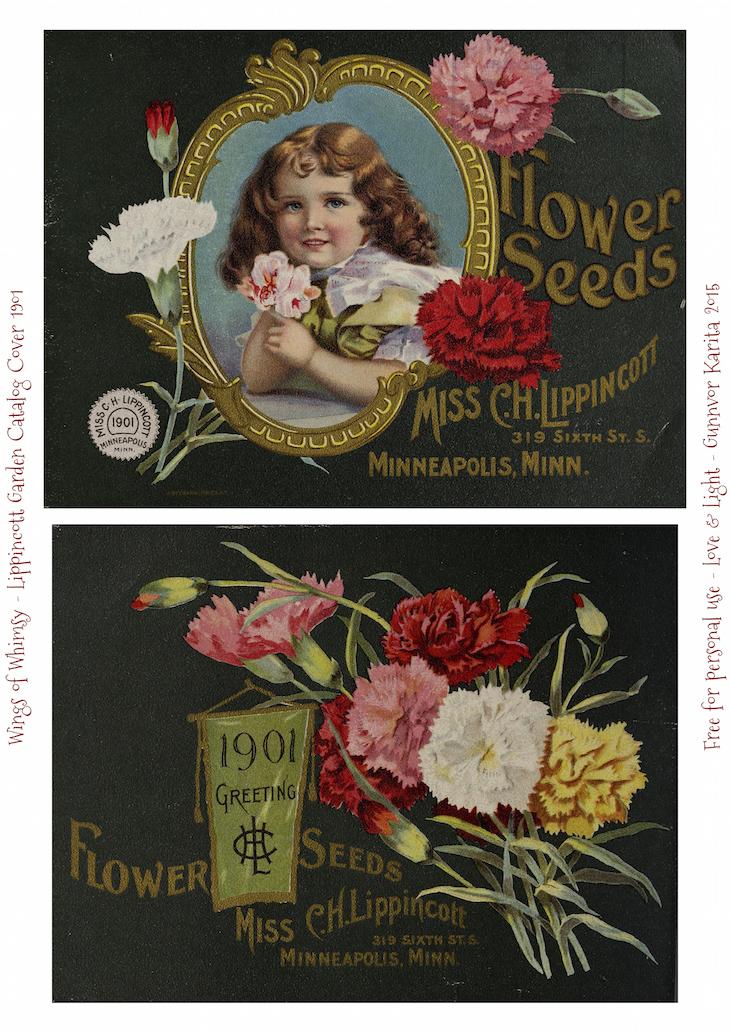 Wings of Whimsy: 1901 Lippincott Seed Catalog #vintage #epehemera #freebie #printable #seed #catalog