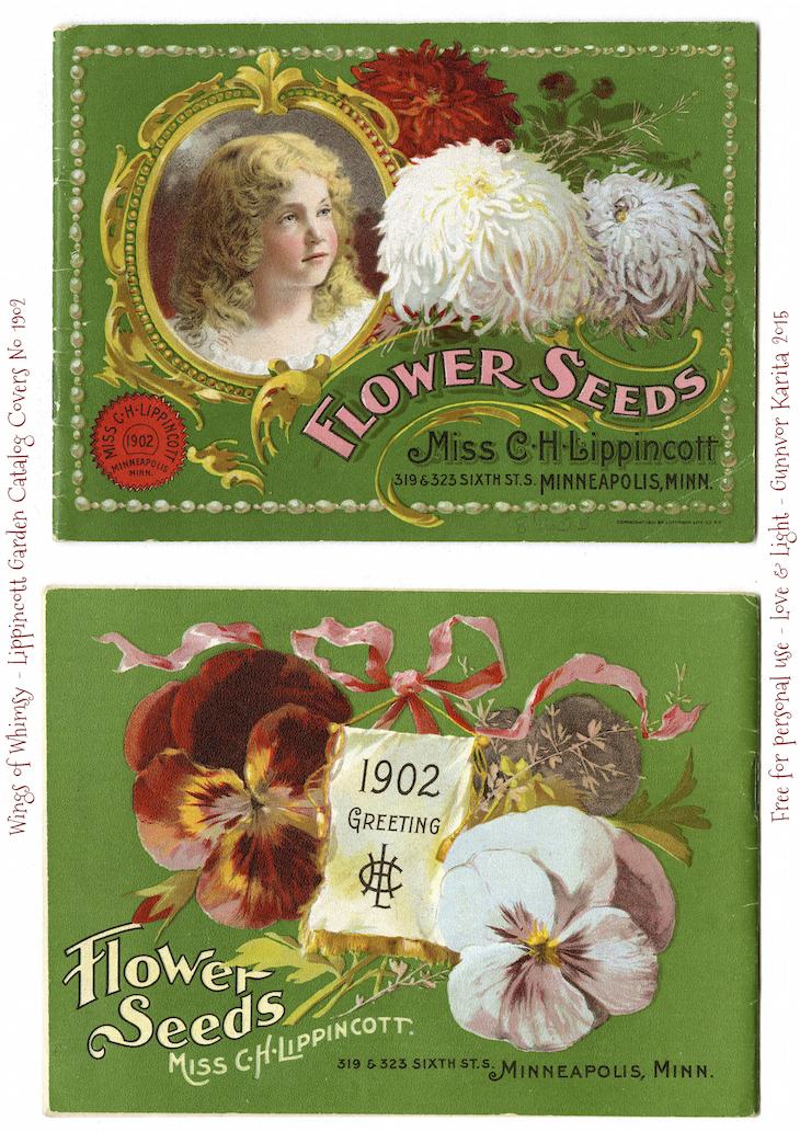 Wings of Whimsy: 1902 Lippincott Seed Catalog #vintage #epehemera #freebie #printable #seed #catalog