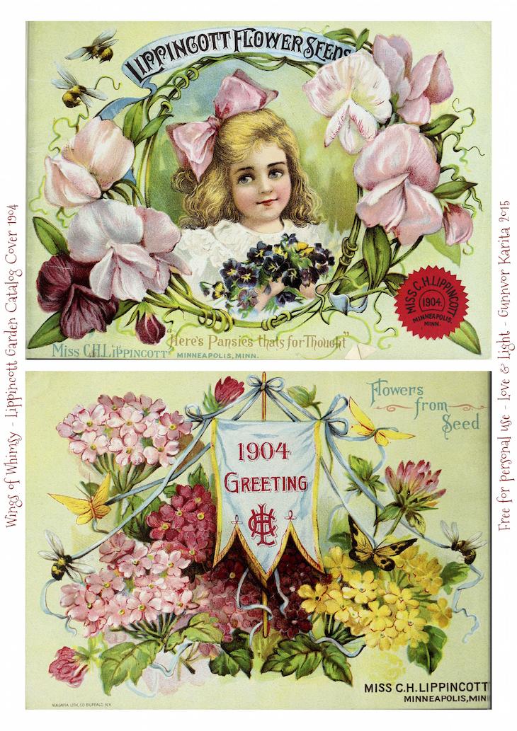 Wings of Whimsy: 1904 Lippincott Seed Catalog #vintage #epehemera #freebie #printable #seed #catalog