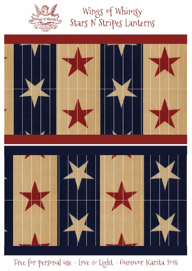 Wings of Whimsy: Stars N Stripes Lanterns #vintage #printable #freebie #diy #american #4th #july #lantern kopi