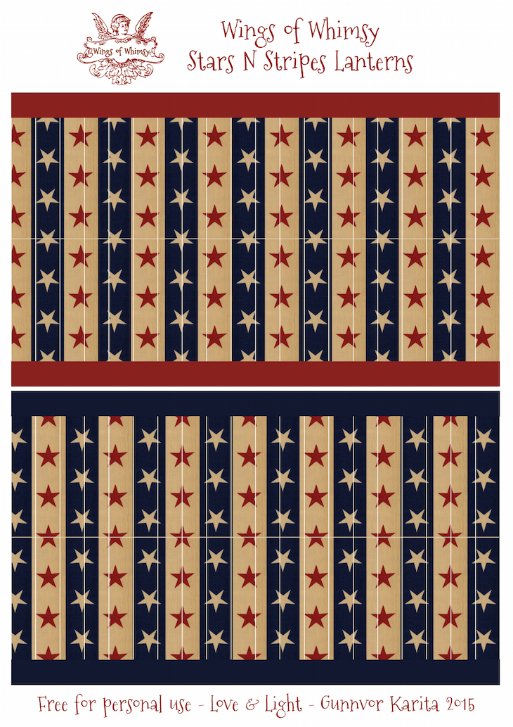 Wings of Whimsy: Stars N Stripes Lanterns #vintage #printable #freebie #diy #american #4th #july #lantern kopi