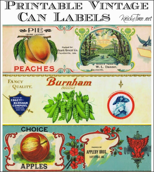 Knick of Time: Vintage Can Labels
