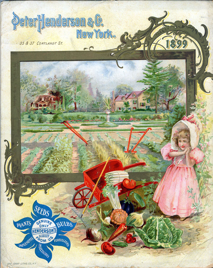 Wings of Whimsy: 1899 Henderson's Seed Catalog Back #freebie #printable #vintage #ephemera #seed #catalog