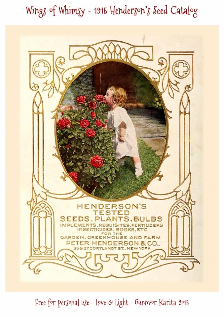 Wings of Whimsy: 1915 Henderson's Seed Catalog #vintage #epehemera #freebie #printable #seed #catalog