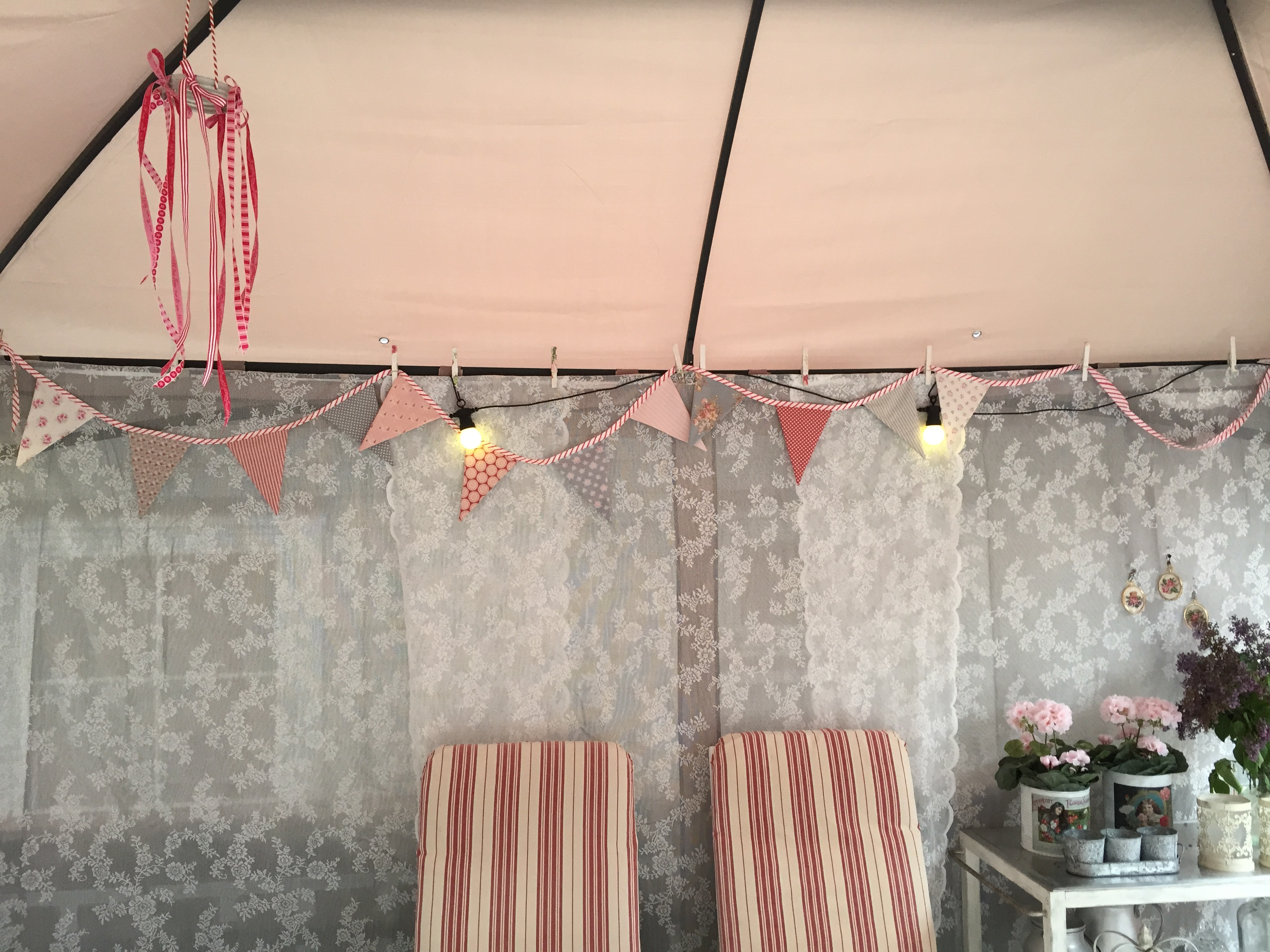 Diy glamping canopy part i wings of whimsy for Glamping ideas diy