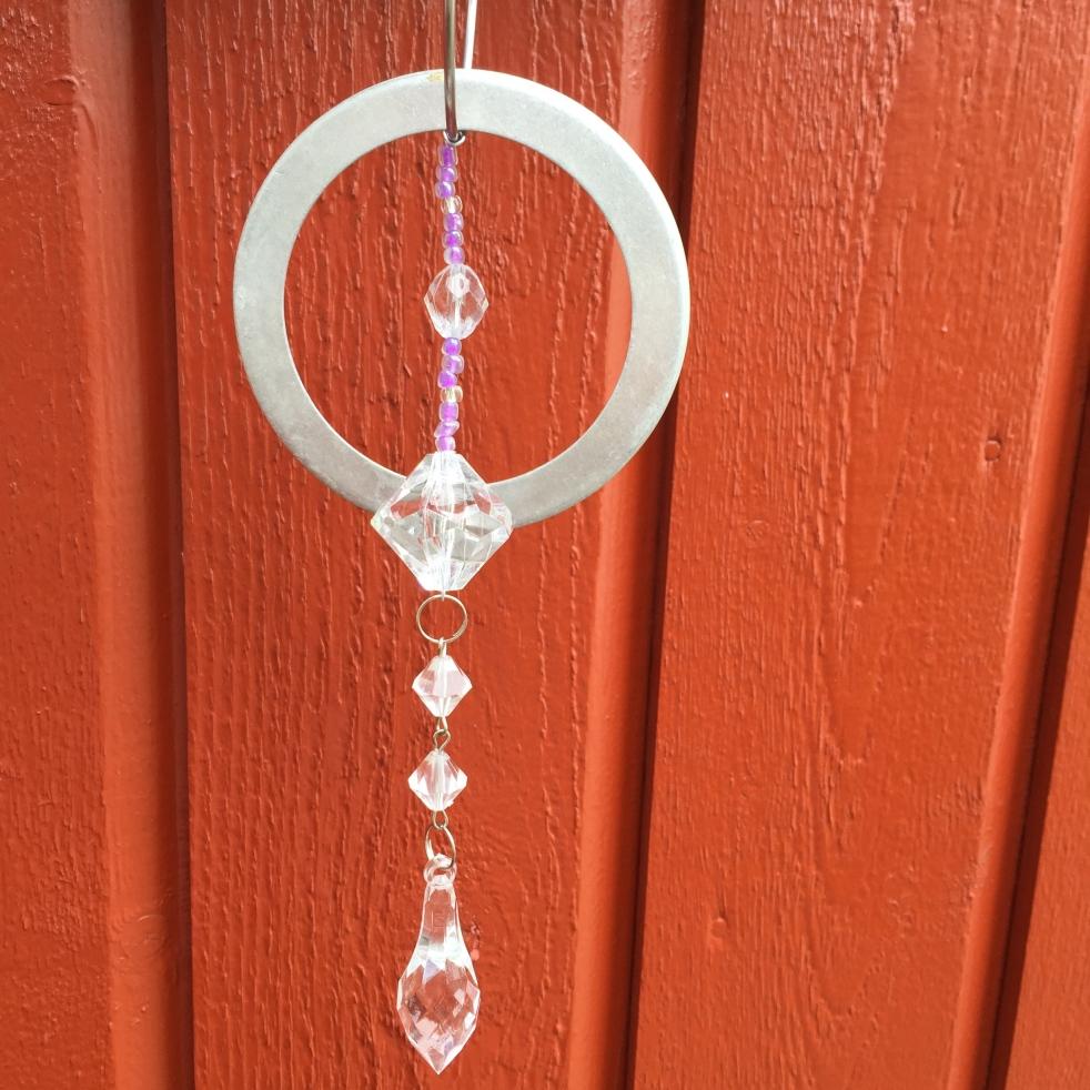 Wings of Whimsy: DIY Zinc Door Sign with Crystal Door Hammer