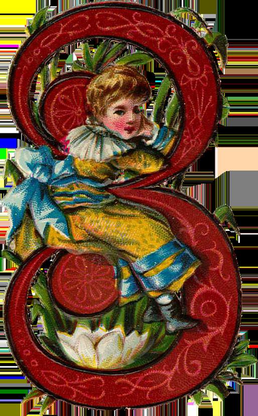 WingsofWhimsy:Numeral Child - PNG-file (transparent background) #vintage #freebie #png #number #numeral #digit #child