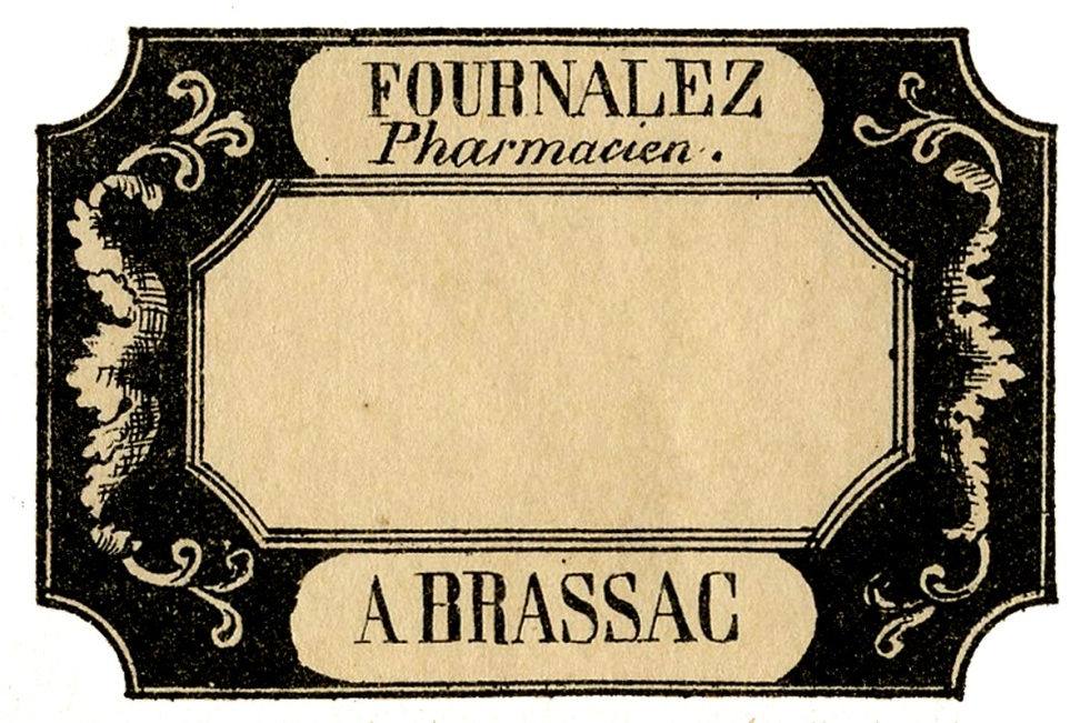 The Graphics Fairy: French Apothecary Label