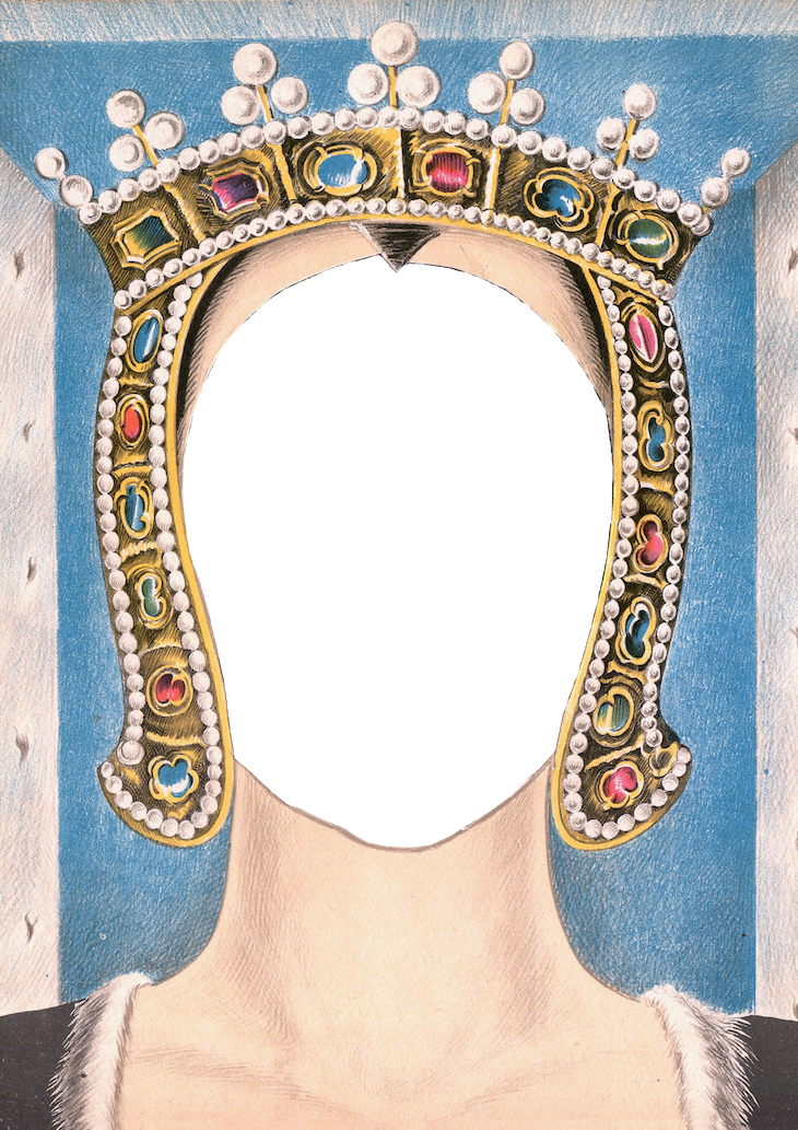 Wings of Whimsy: Royal Mask Queen PNG (transparent background) #vintage #ephemera #freebie #printable #royal #king #queen #mask