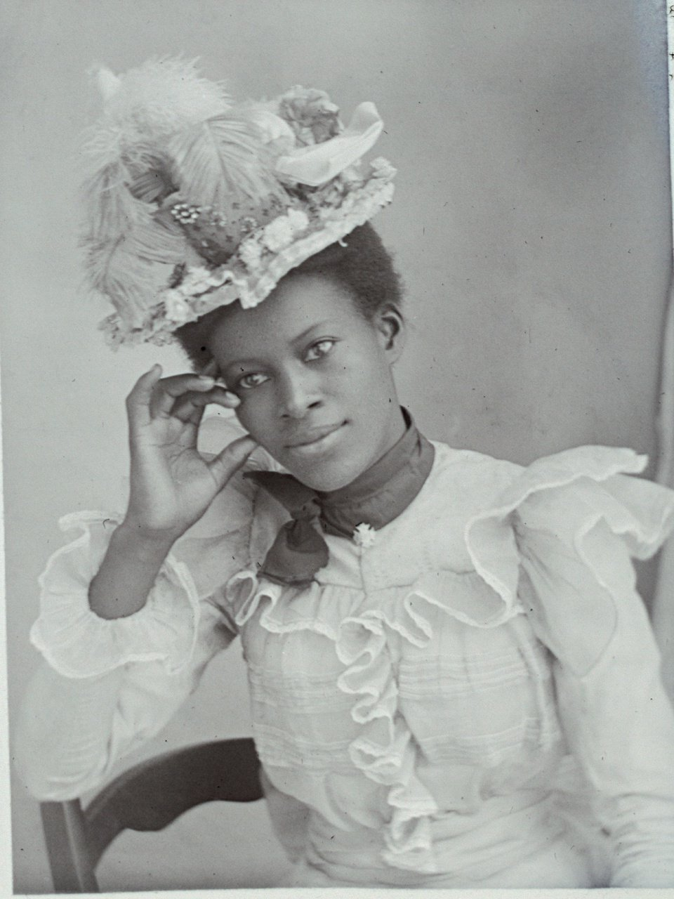 Wings of Whimsy: Victorian Black Beauty Portrait #vintage #ephemera #printable #photo #black #negro #portrait #photo #victorian