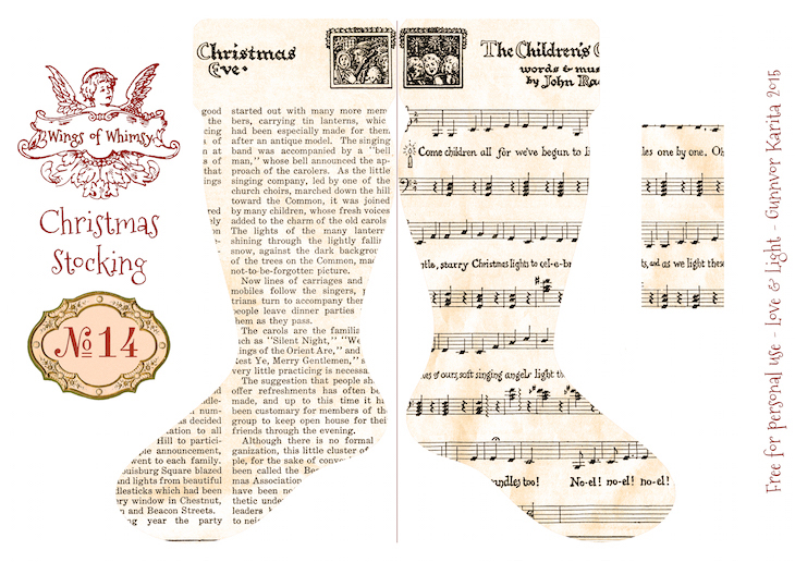 Wings of Whimsy: Vintage Christmas Stocking No 14 #freebie #printable #vintage #christmas #stocking