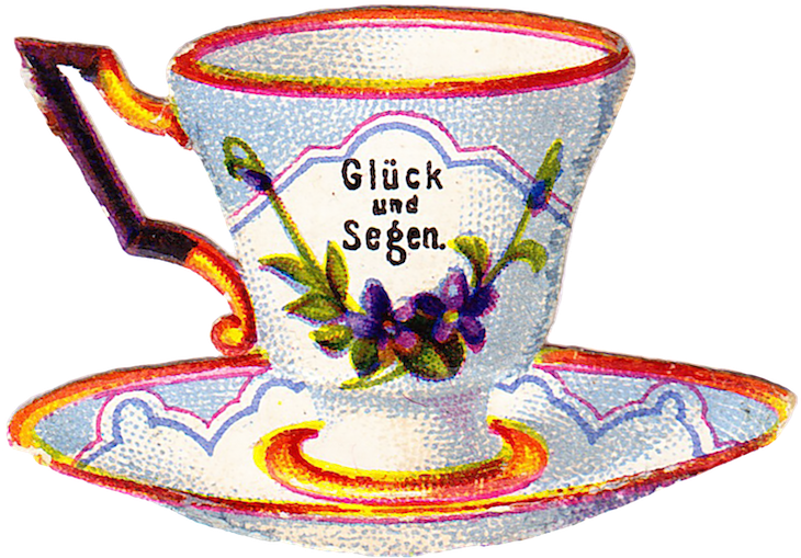 Wings of Whimsy: Belle Epoque Tea Cup No 1 PNG -file (transparent background) #vintage #ephemera #freebie #printable #teacup #scrap
