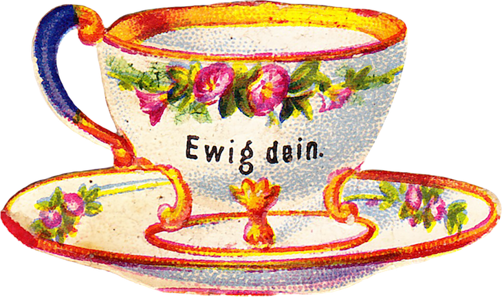 Wings of Whimsy: Belle Epoque Tea Cup No 6 PNG -file (transparent background) #vintage #ephemera #freebie #printable #teacup #scrap