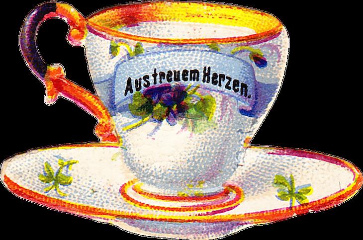 Wings of Whimsy: Belle Epoque Tea Cup No 9 PNG -file (transparent background) #vintage #ephemera #freebie #printable #teacup #scrap