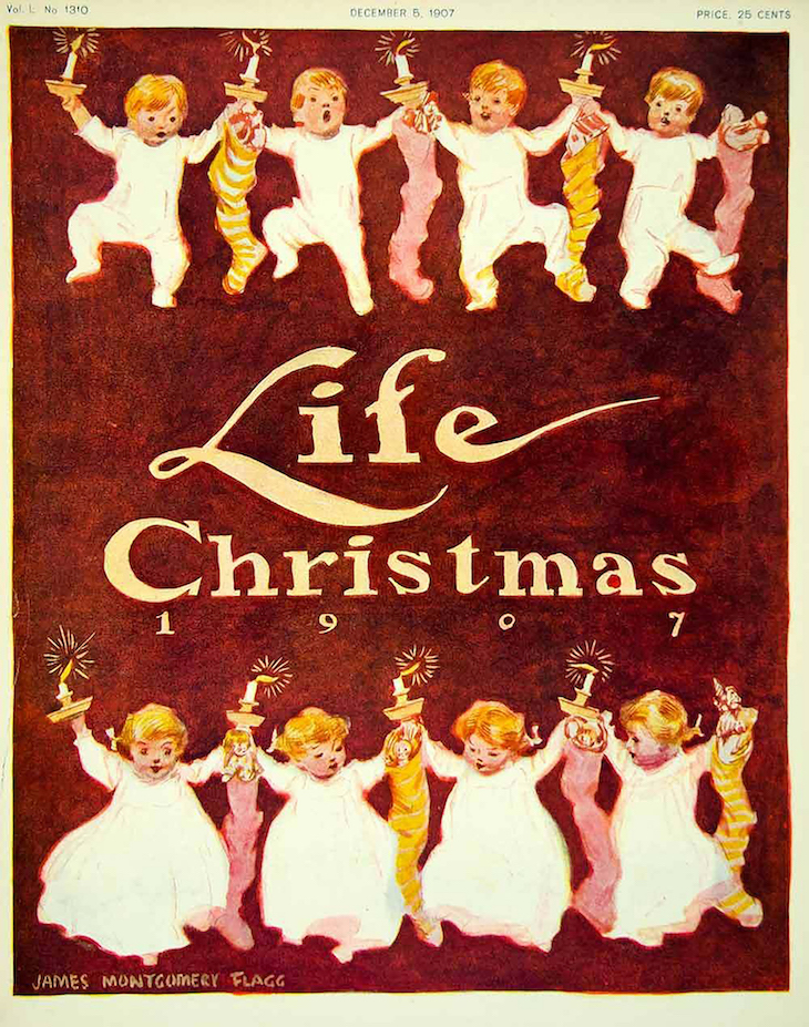 Wings of Whimsy: 1907 Life Magazine Christmas #vintage #ephemera #freebie #christmas