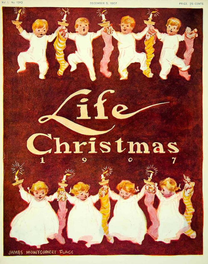 Wings of Whimsy: 1907 Life Magazine Christmas #vintage #ephemera #freebie #christmas