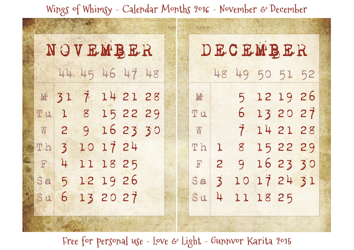 Calendar Vintage 2015 : The calendar vintage style wings of whimsy