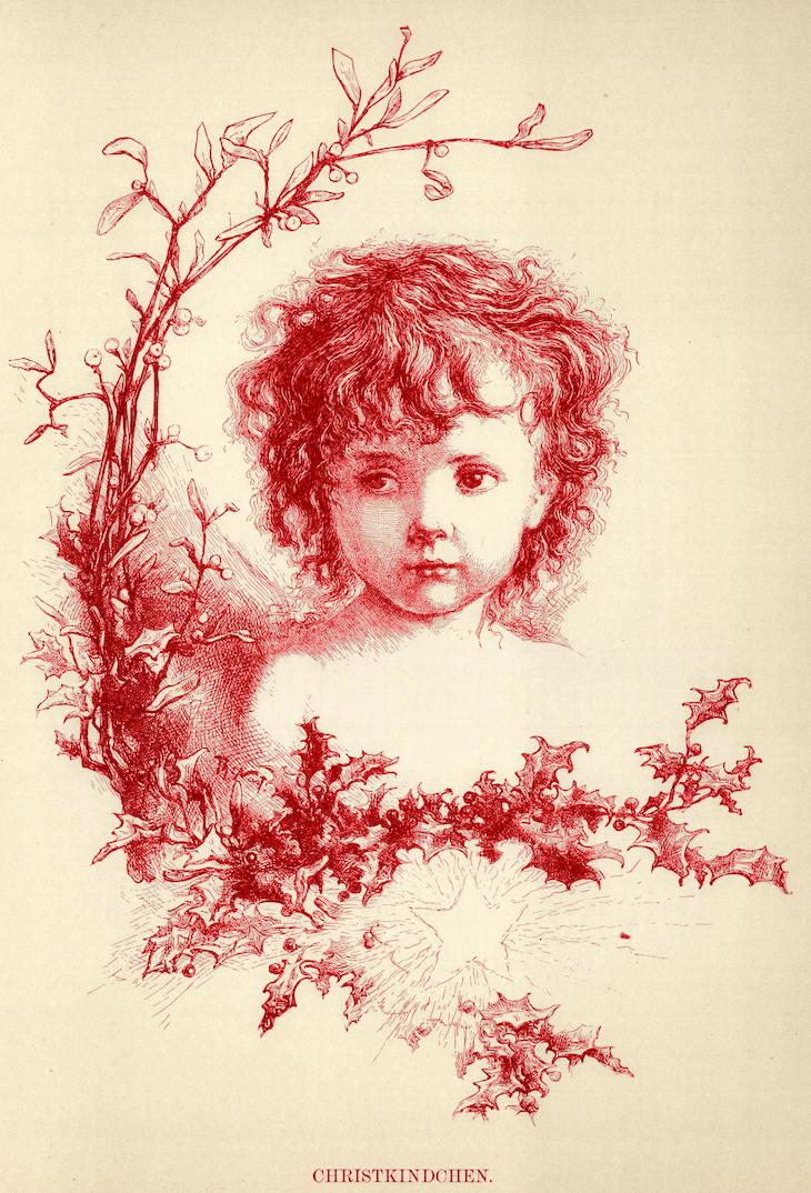 Wings of Whimsy: Christ Kindchen #freebie #ephemera #vintage #printable #child #christmas