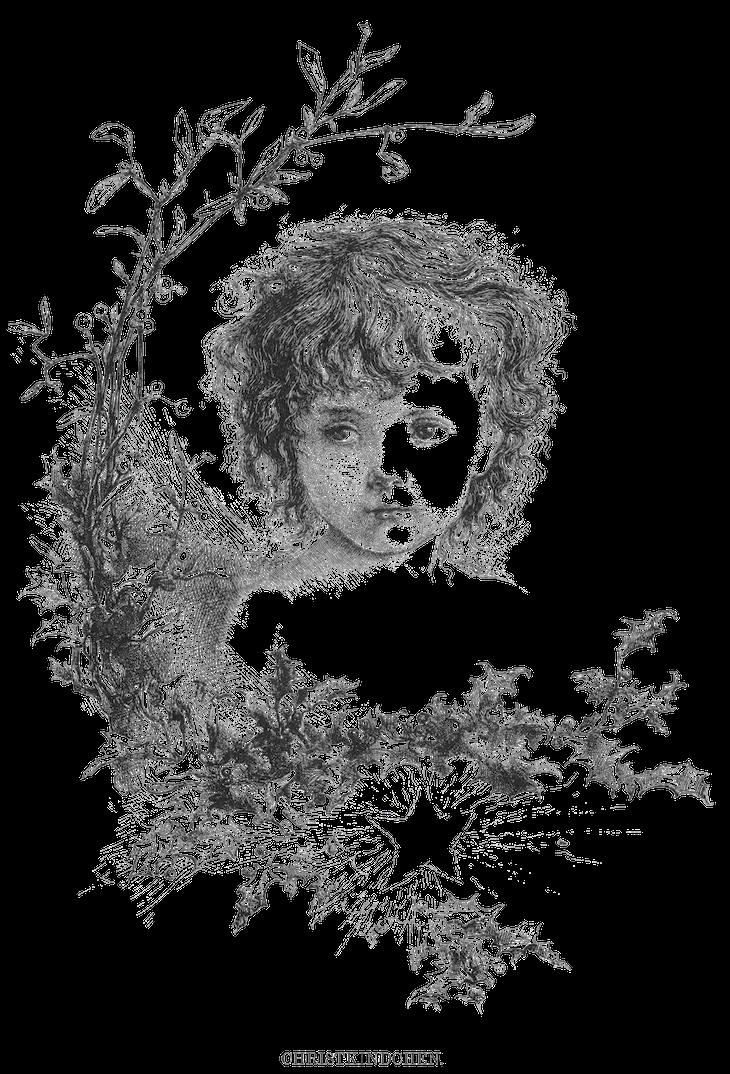 Wings of Whimsy: Christ Kindchen PNG-file (transparent background) #freebie #ephemera #vintage #printable #child #christmas
