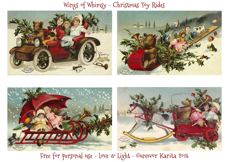 Wings of Whimsy: Christmas Toy Ride #vintage #ephemera #freebie #printable #christmas #toys