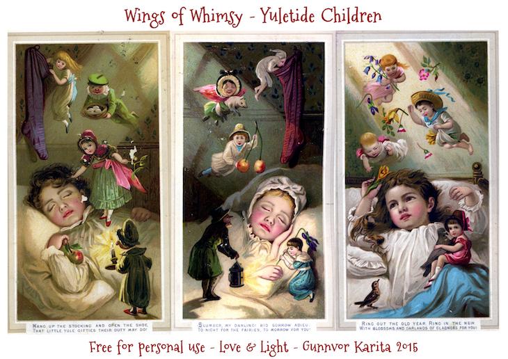 Wings of Whimsy: Yuletide Children