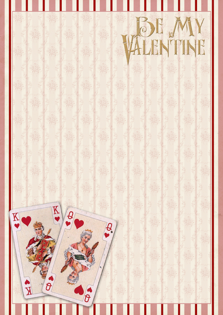 Wings of Whimsy: French Playing Cards Paper #freebie #vintage #valentine #printable #stripes #paper #french #playing #cards