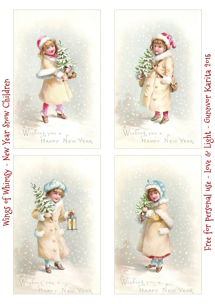 Wings of Whimsy: Happy New Year 2016 #vintage #ephemera #freebie #printable #children #new #year