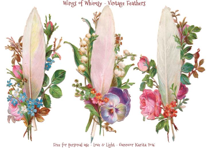 Wings of Whimsy: Vintage Feathers #freebie #vintage #ephemera #printable #feather