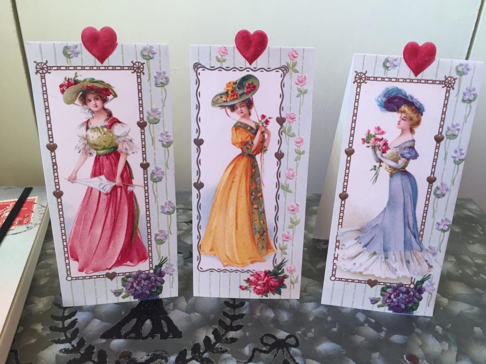 Wings of Whimsy - Belle Époque Ladies #vintage #ephemera #printable #freebie #lady #bookmark #card