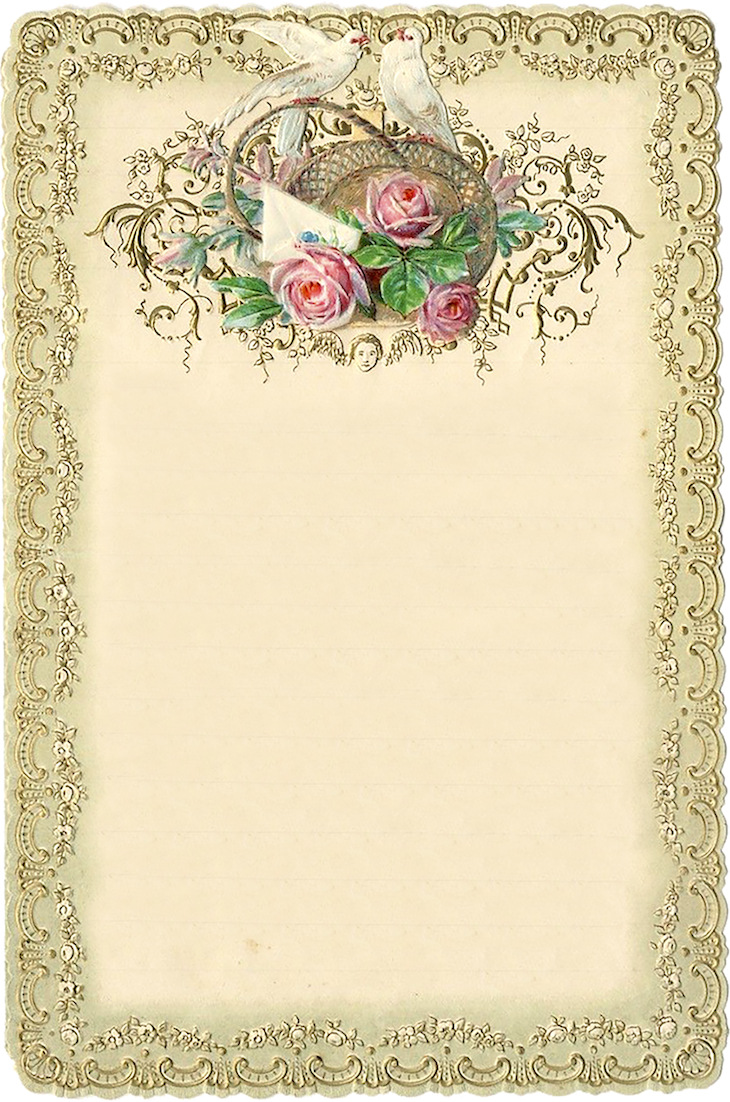 Wings of Whimsy: 1899 Romantic Notecard #victorian #freebie #printable #ephemera #stationery #romantic #notecard