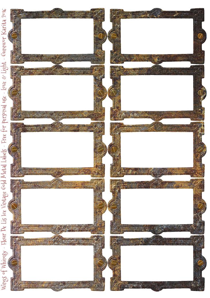 Wings of Whimsy: Drawer Hardware Label FleurDeLis - WingsofWhimsy #vintage #hardware #drawer #label #freebie #printable #ephemera